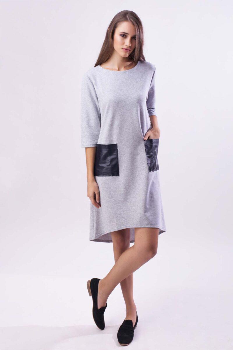 Повседневное платье, меланж ассиметрия