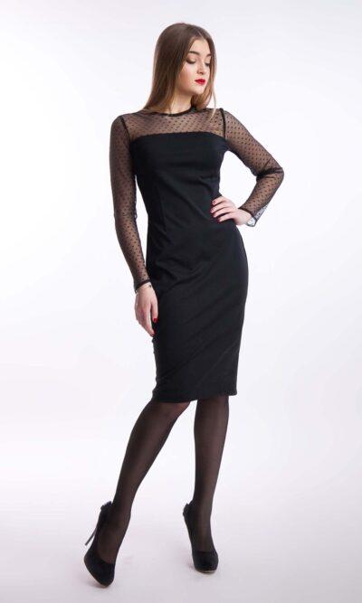Вечернее платье по фигуре миди, черный