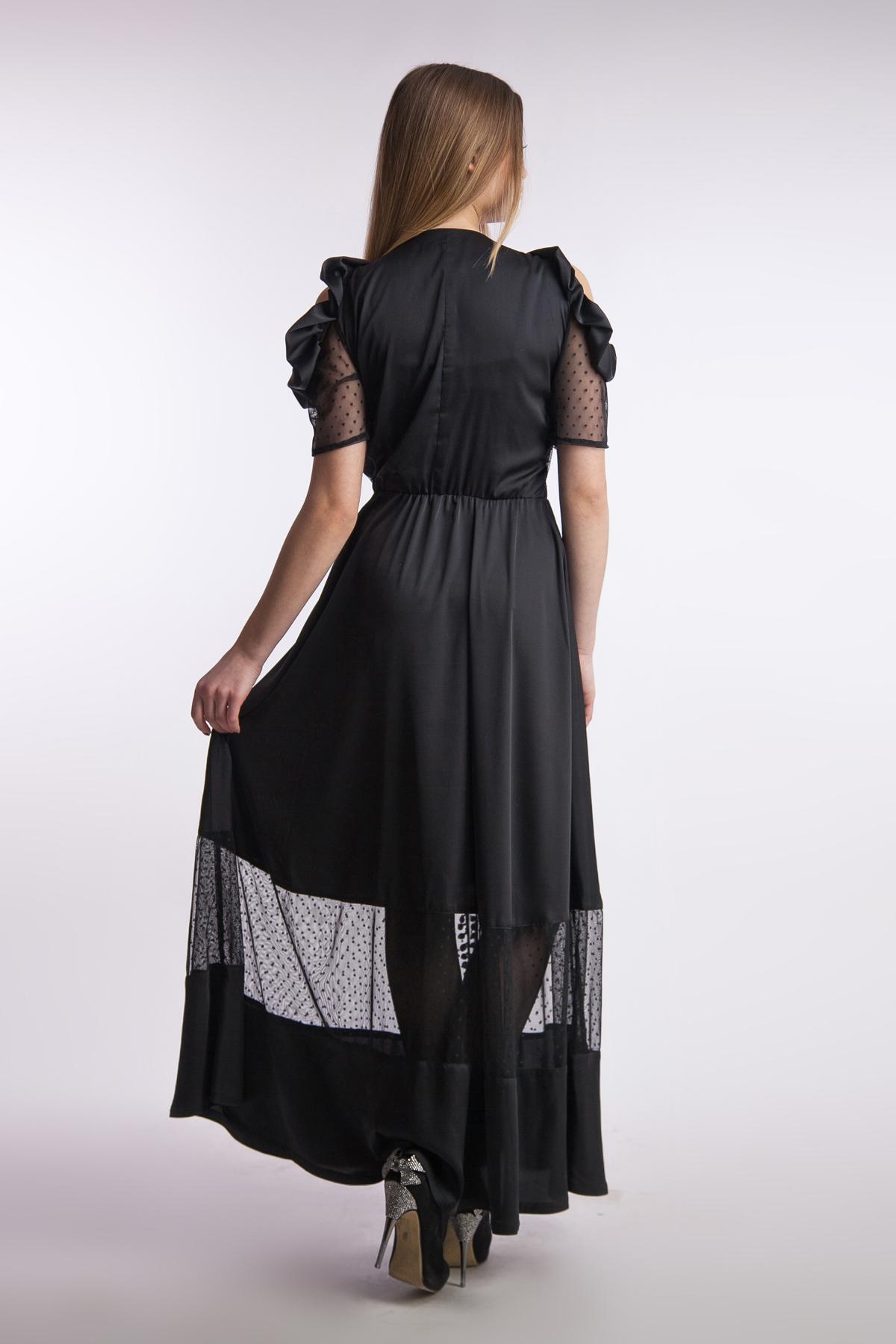 Вечернее шелковое платье в пол