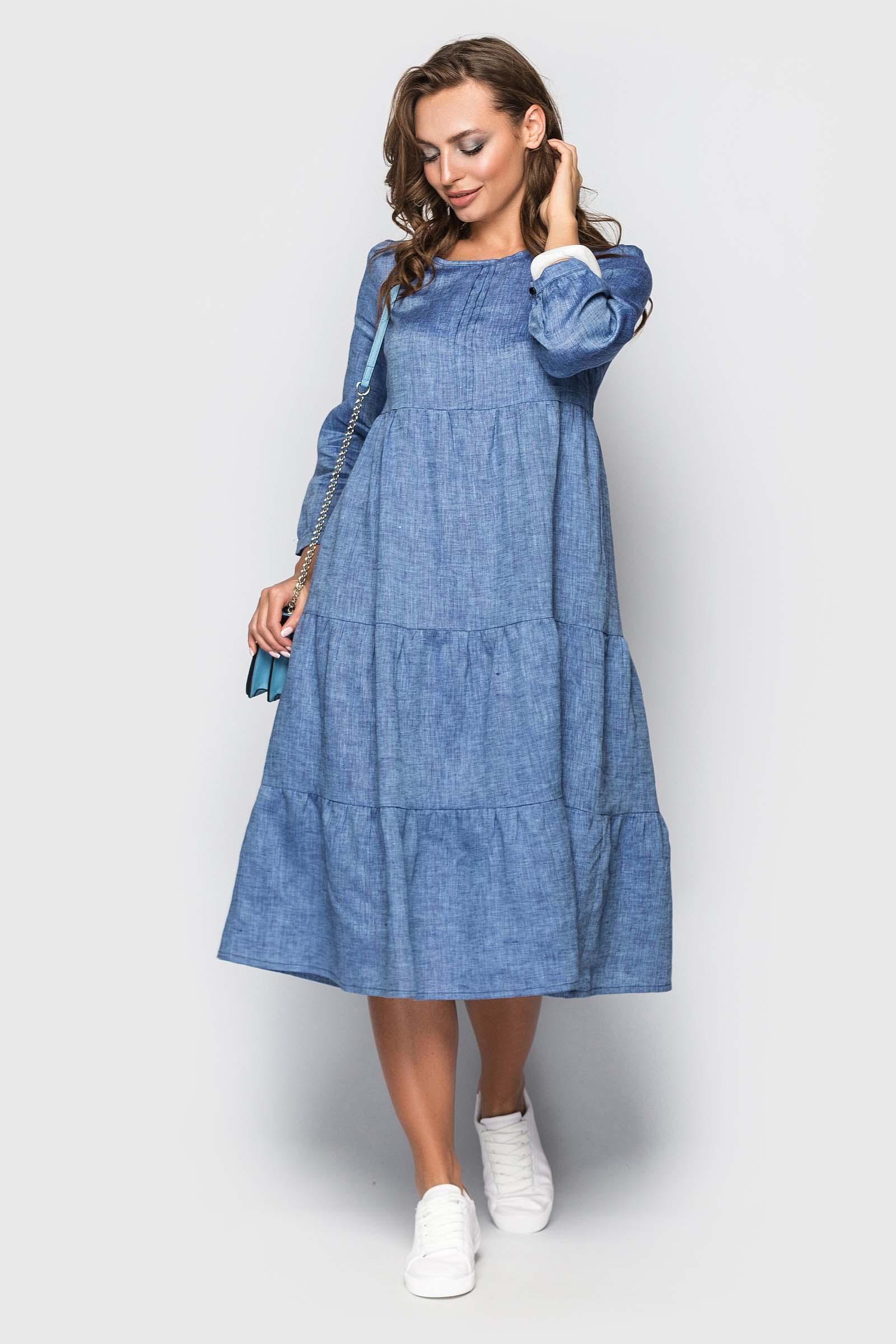 Платье в стиле бохо со льна