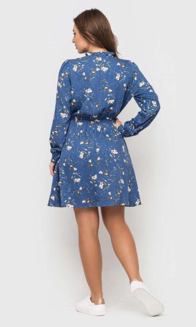 Нежное штапельное платье