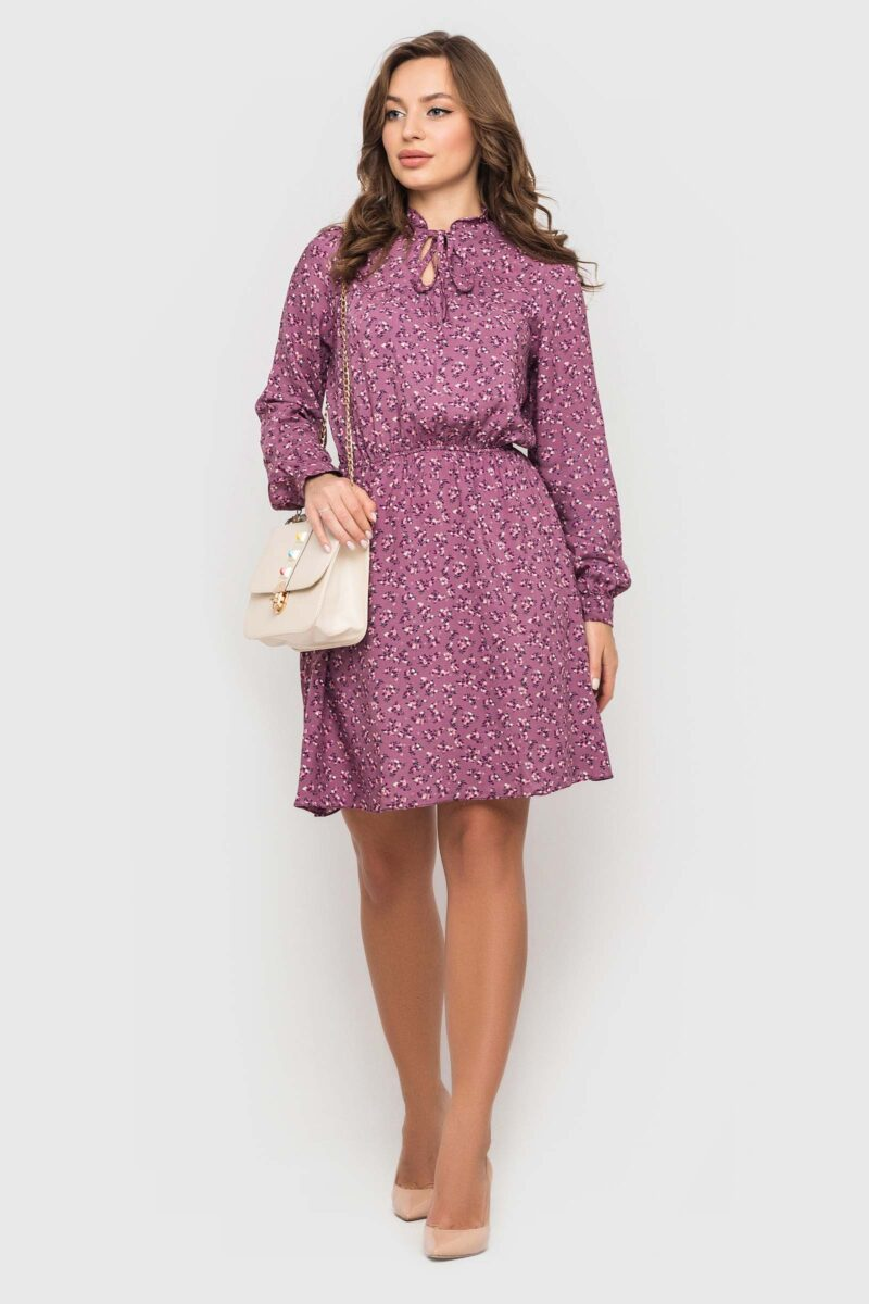 Короткое платье со штапеля