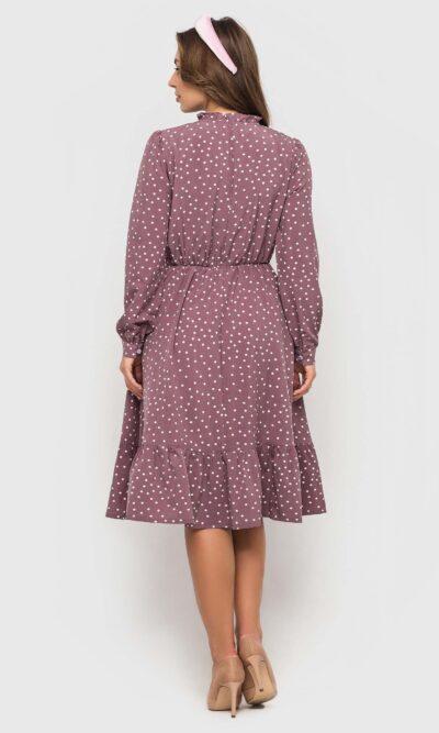 Женственное платье в горошек
