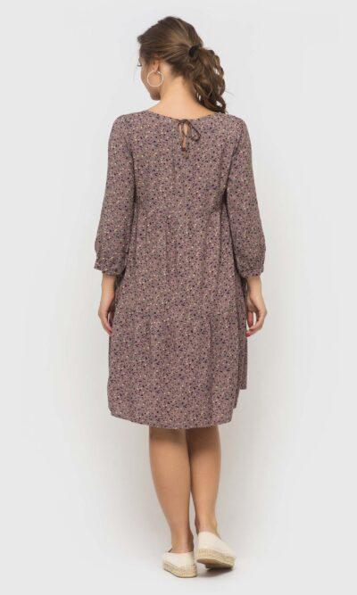 Платье в стиле бохо с цветочным принтом