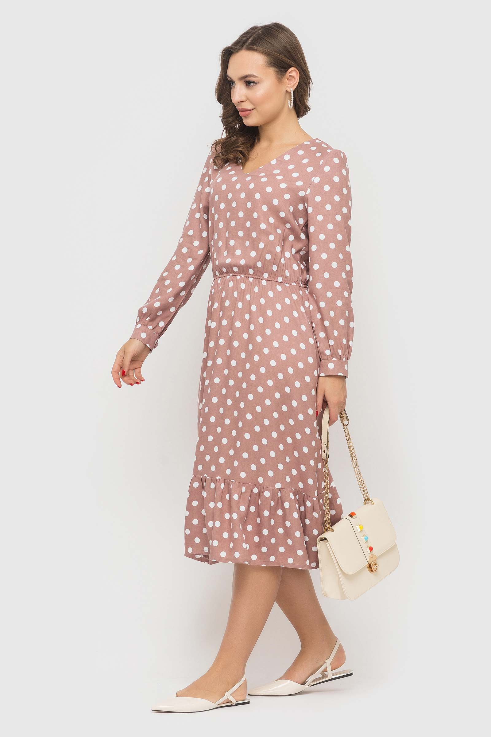 Платье в горошек из натуральной ткани