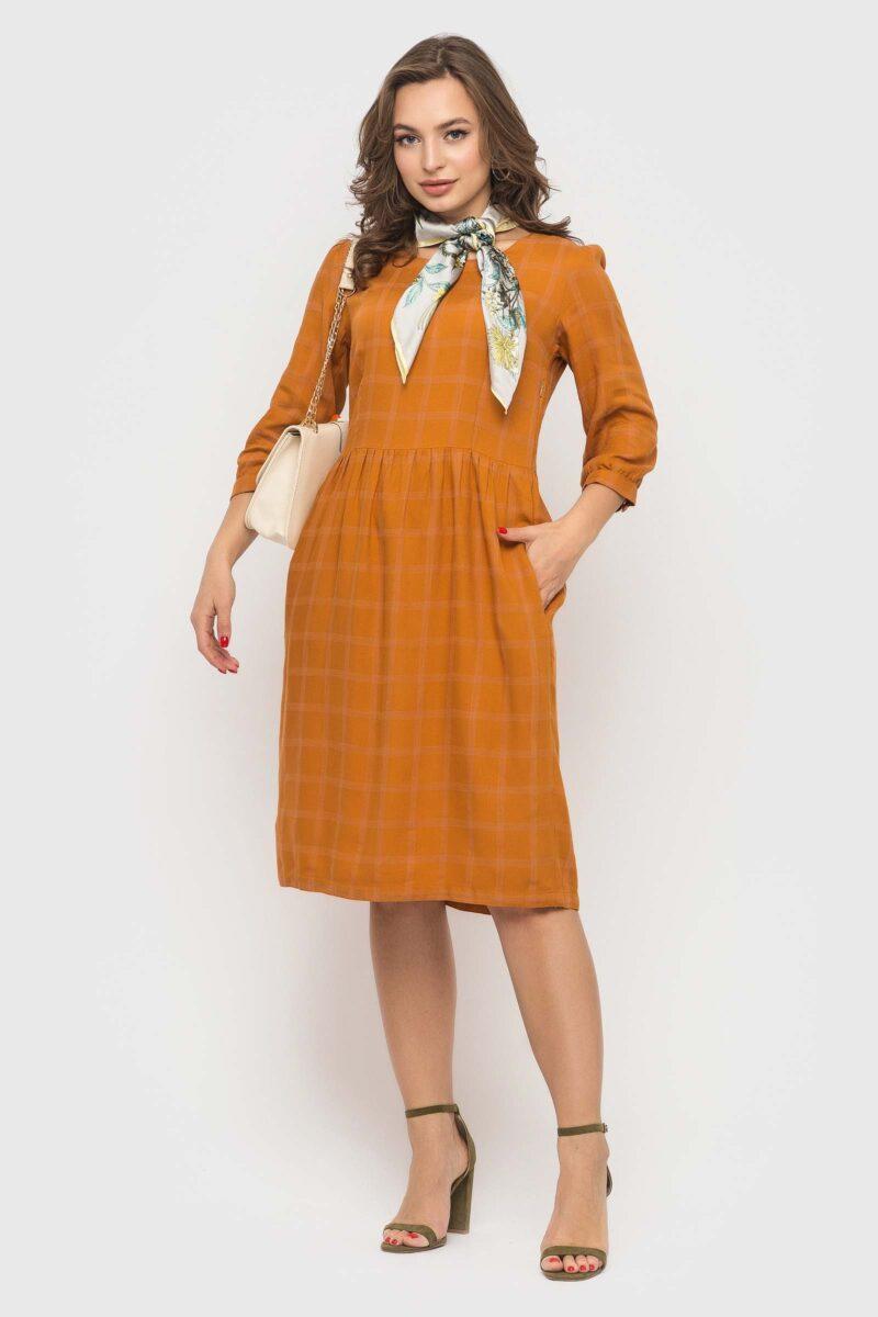 Практичное платье цвета горчица