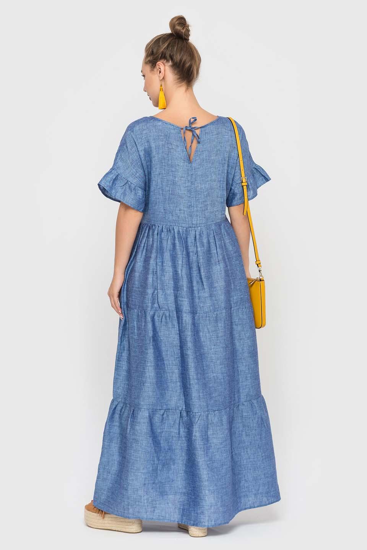 Стильное платье длинной миди
