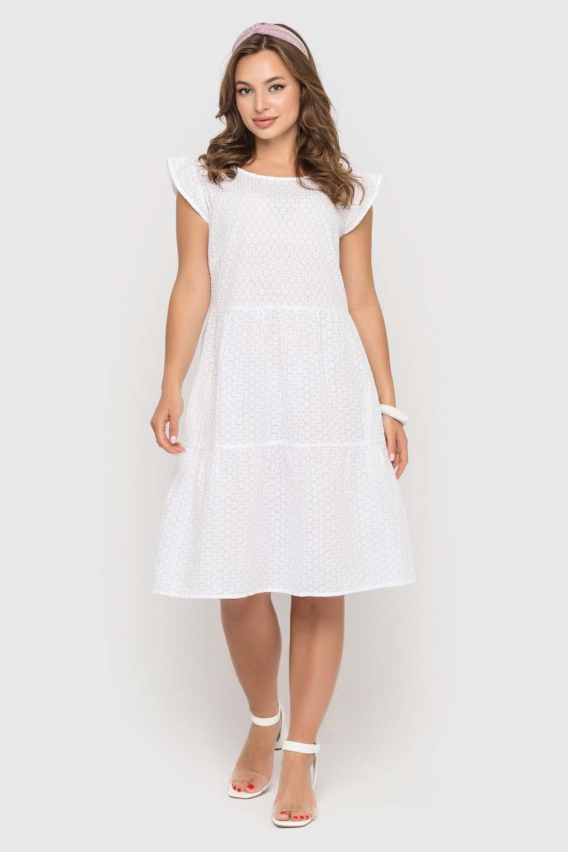 Белоснежное платье из прошвы