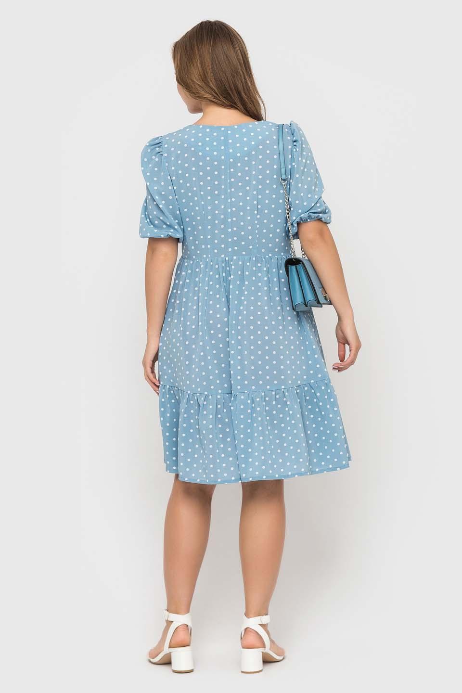 Романтичное голубое платье