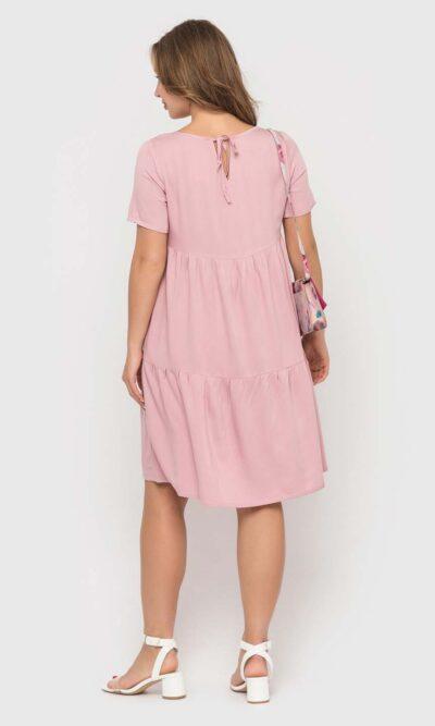 Нежное пудровое платье