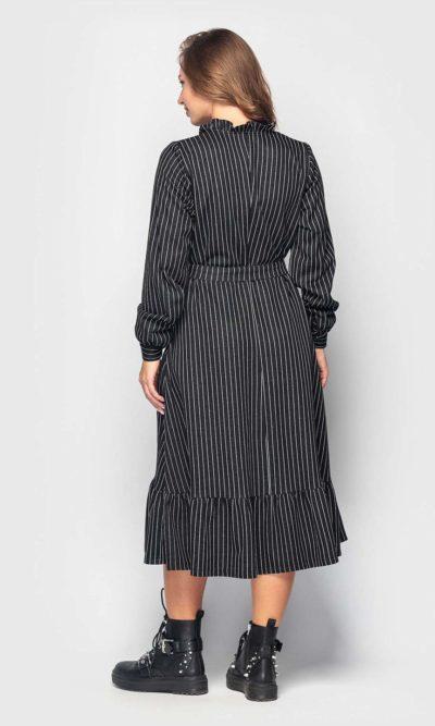 Комфортное трикотажное платье в полоску