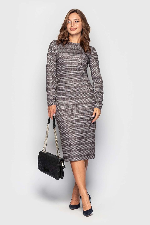 Платье с люрексом по фигуре