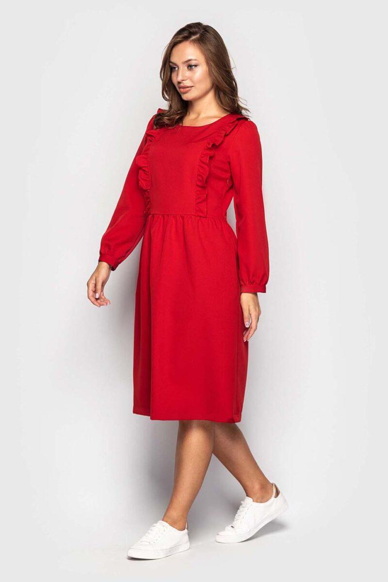 Милое красное платье