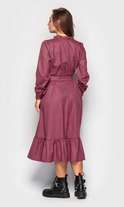 Теплое платье длинной миди