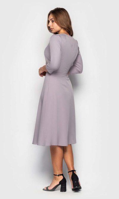 Платье на запах в нежной расцветке