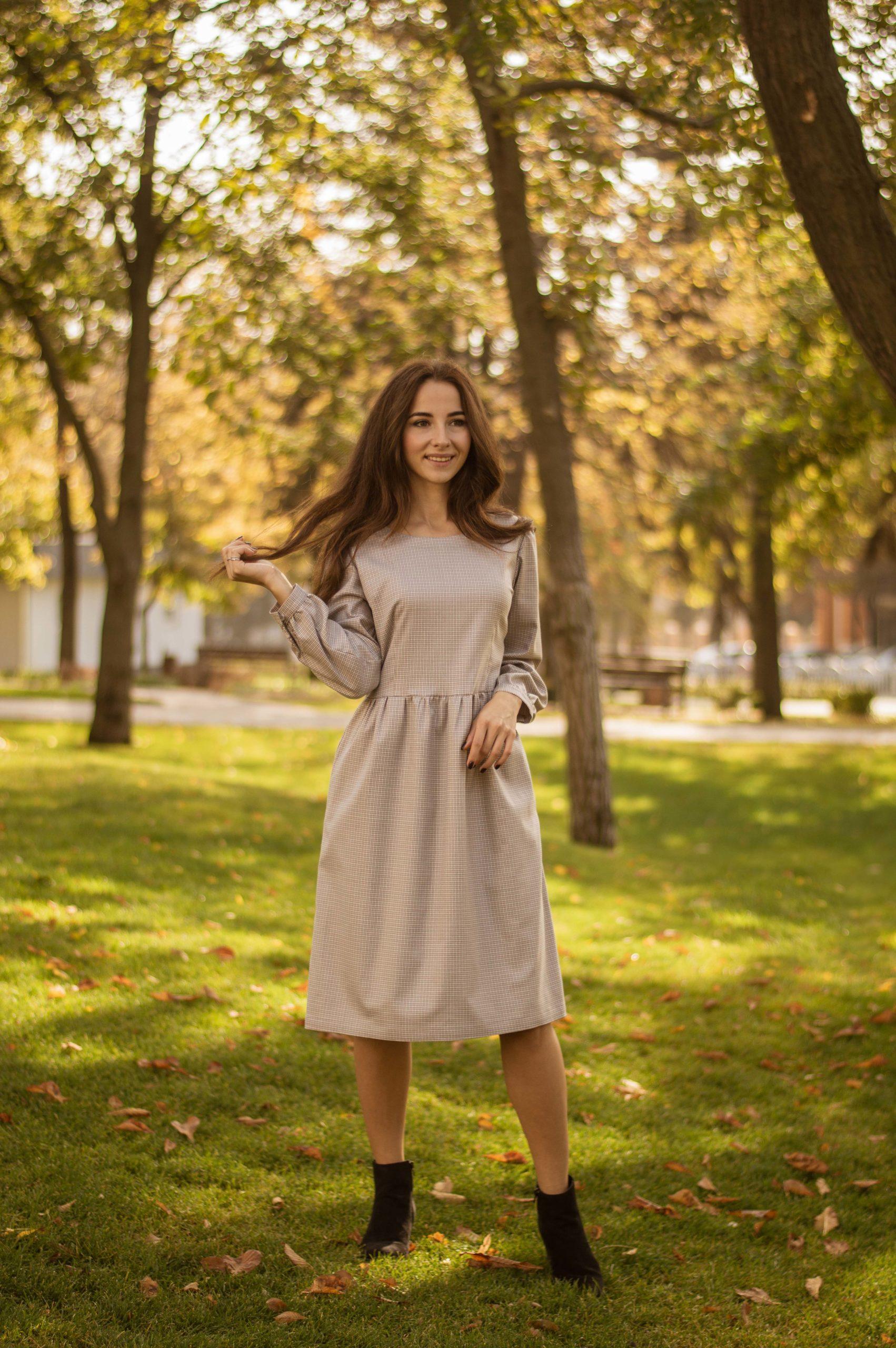 Теплое платье из полушерсти