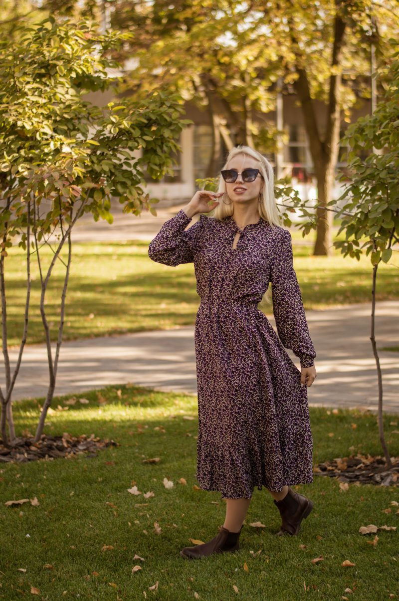 Стильное платье из натуральной ткани