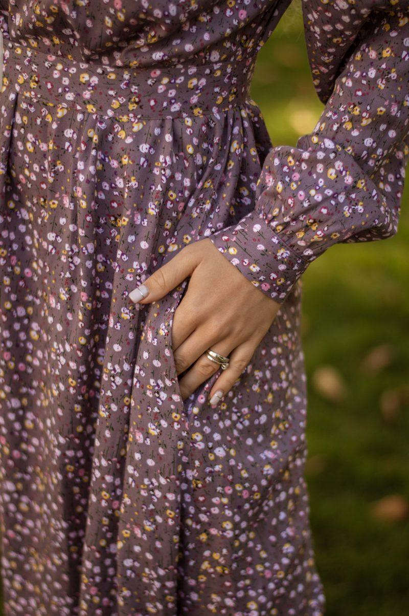 Романтичное платье из штапеля