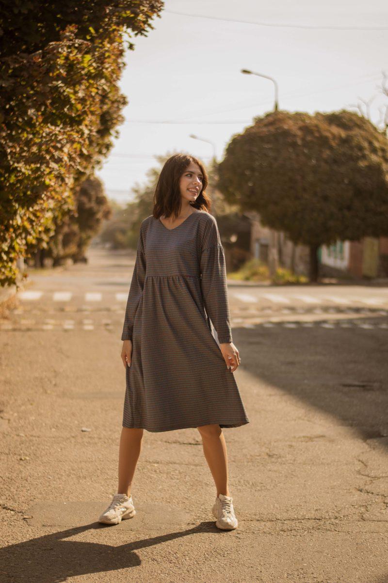 Платье в стиле бохо из полушерсти