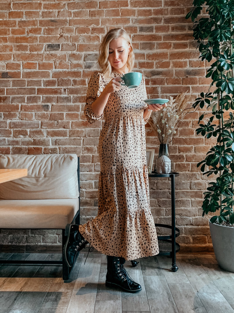 Платье бохо в трендовом принте