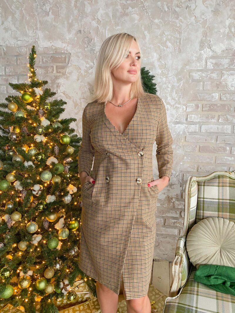 Теплое платье на запах