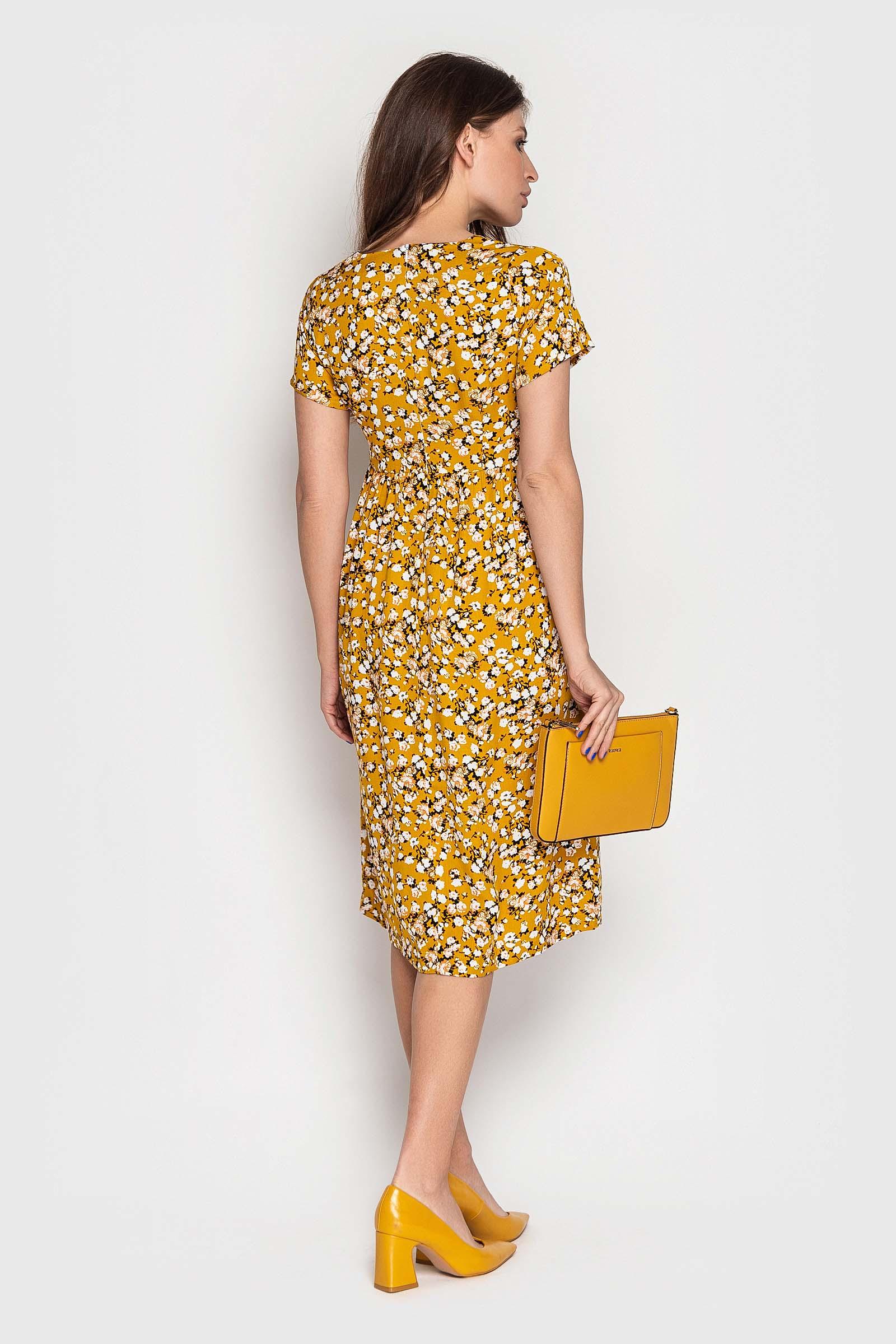 Повседневное платье с цветочным принтом