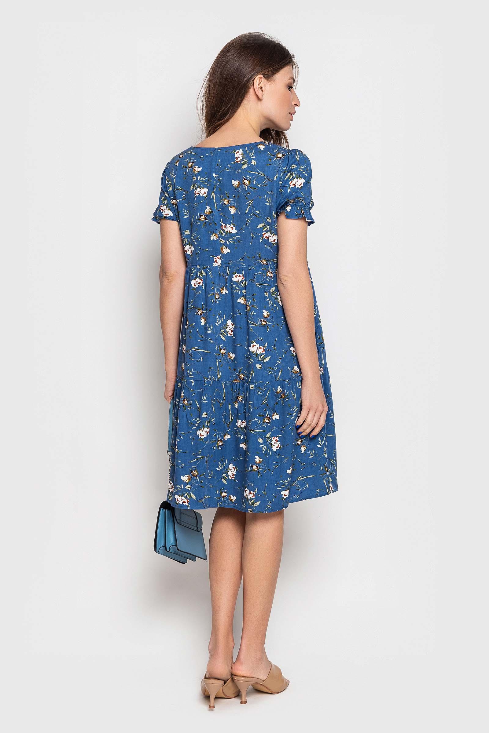 Синие платье свободного кроя