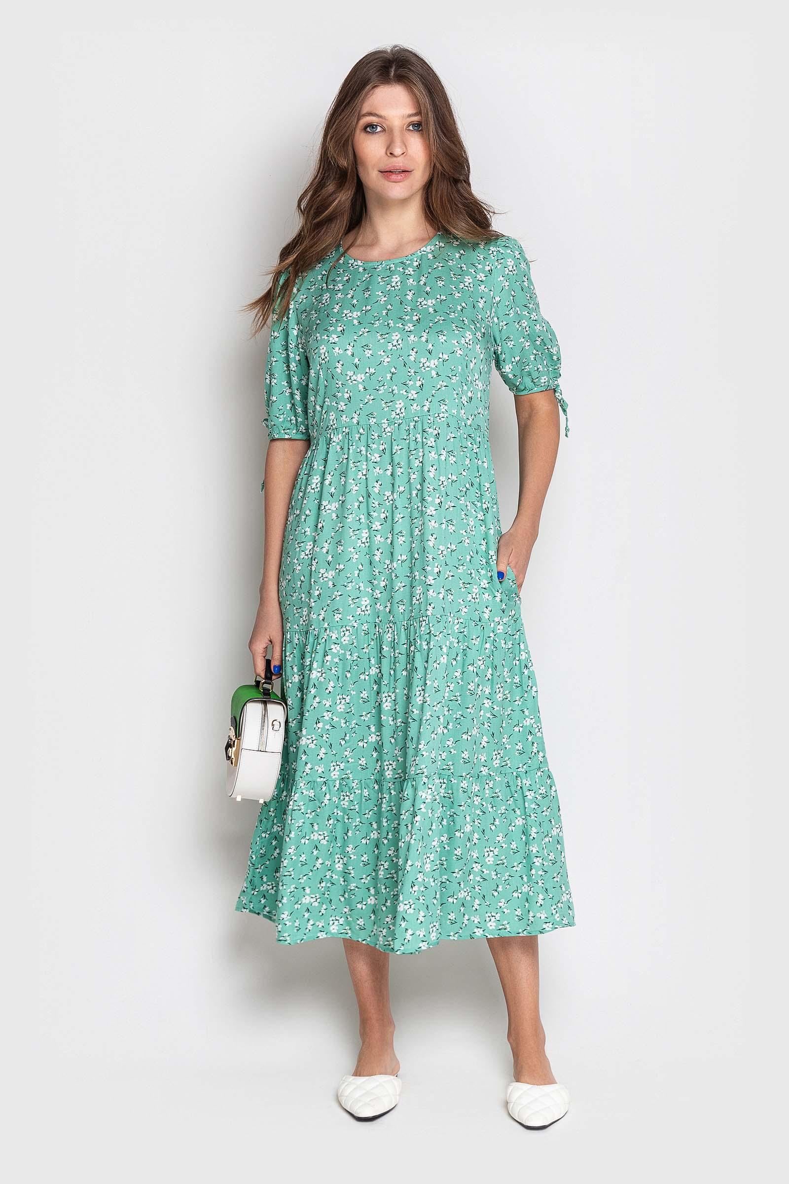 Мятное платье на каждый день